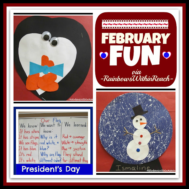 photo of: February Fun in Kindergarten: Snow Globe, Penguin, President's Day
