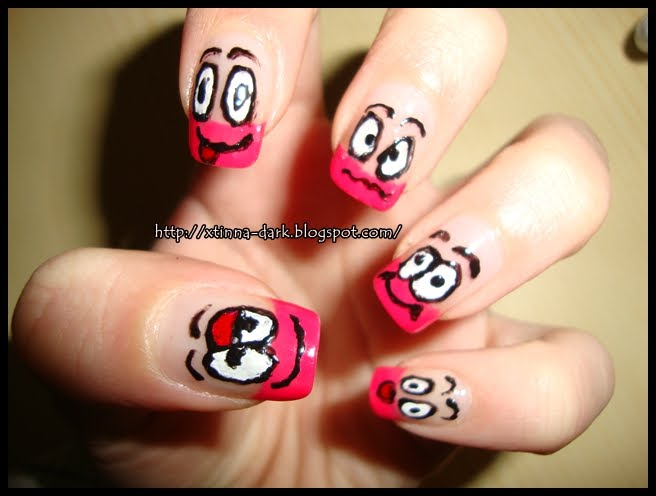 Funny Faces Nail Art