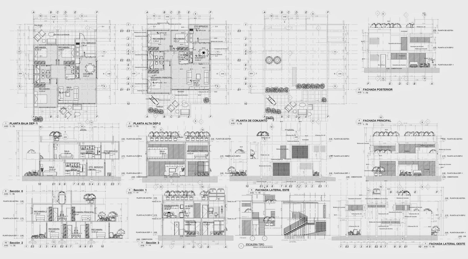 Proyecto ejecutivo cubik arquitectura carlos tapia for Planos en pdf arquitectura