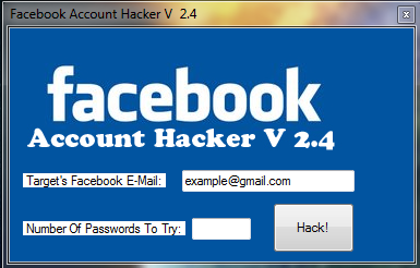 Download FACEBOOK Account Hacker Versi 2,4 dan Versi 2012