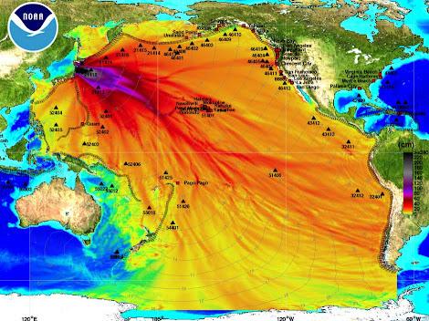 Mapa Tsunami Japon
