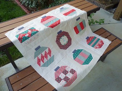 Vintage Holiday Christmas Dear Santa Cosmo Cricket lap quilt top