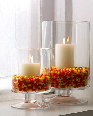 candy corn candle holder