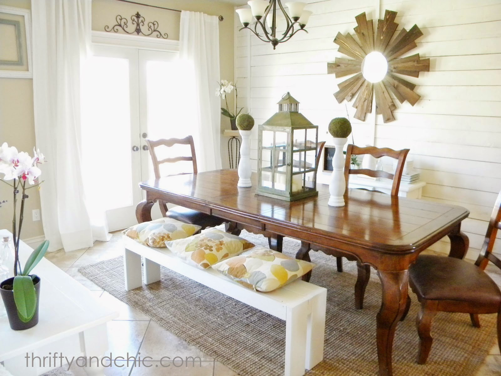 farmhouse dining table and dining room