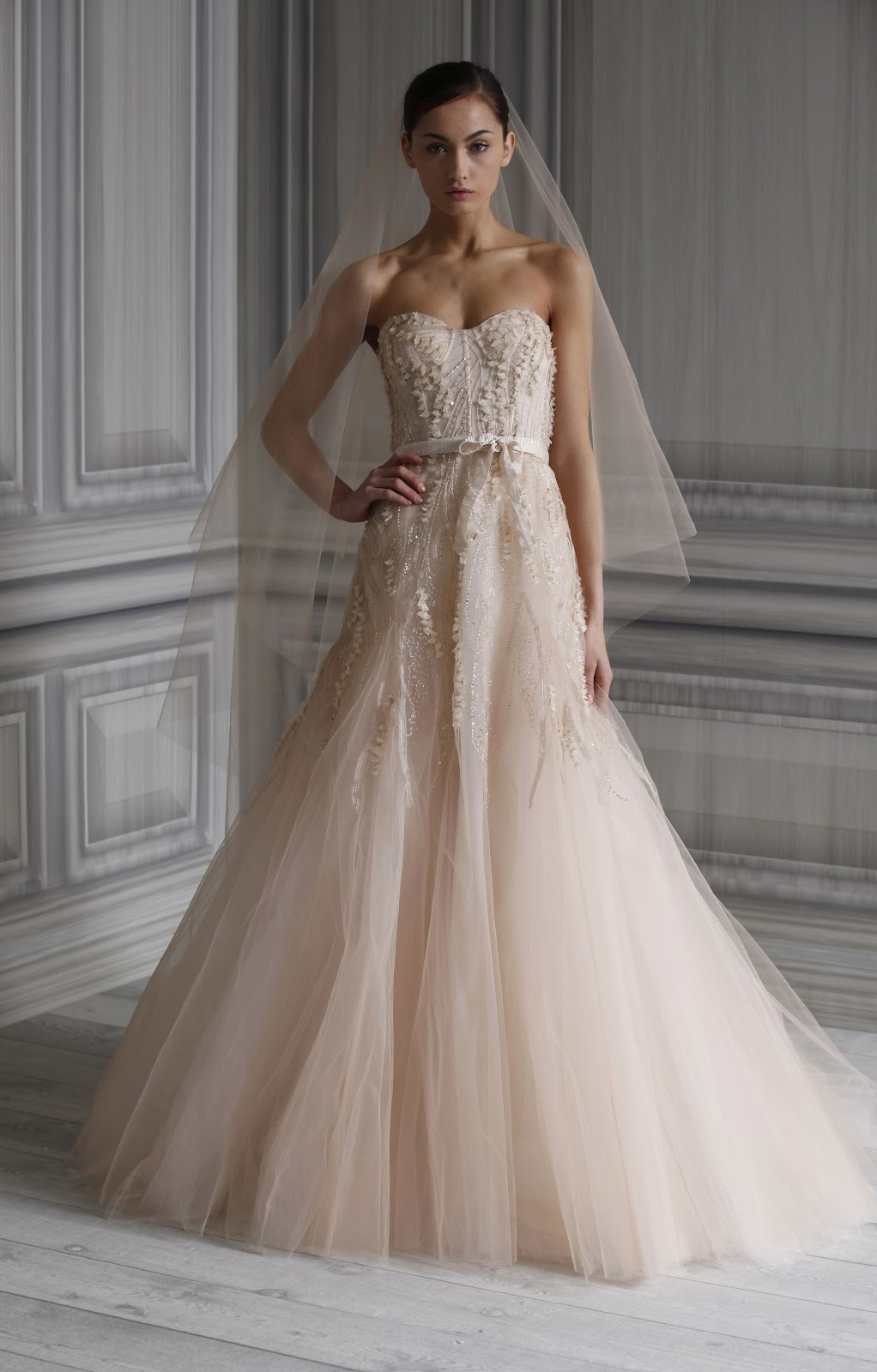 monique lhuillier spring 2012 bridal collection popular