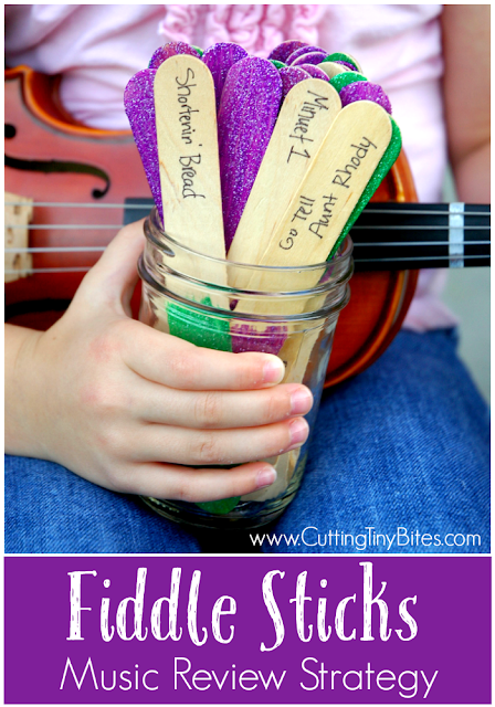 Fiddle Sticks- Music practice and review strategy that works for any instrument at any level! Make instrument practice fun for children of all ages!