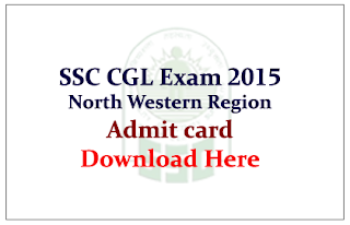 Staff Selection Commission CGL – 2015 Admit Card released