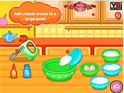 Game làm bánh pho mát dâu, chơi game lam banh online