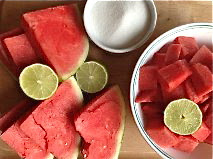 Sweet Summer Watermelon Granita