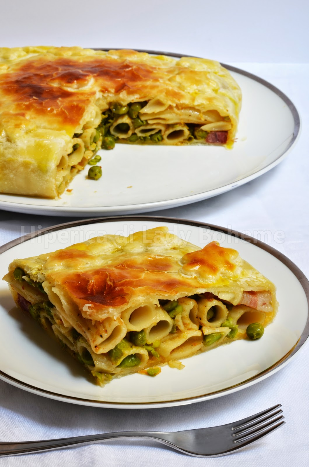 hiperica_lady_boheme_blog_cucina_ricette_gustose_facili_veloci_timballo_di_rigatoni_con_piselli_2
