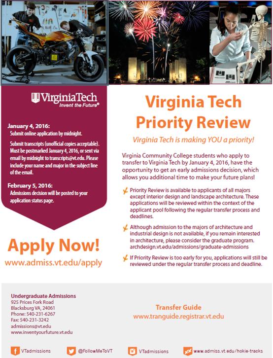 Virginia tech application essay