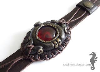 Steampunkowa bransoletka