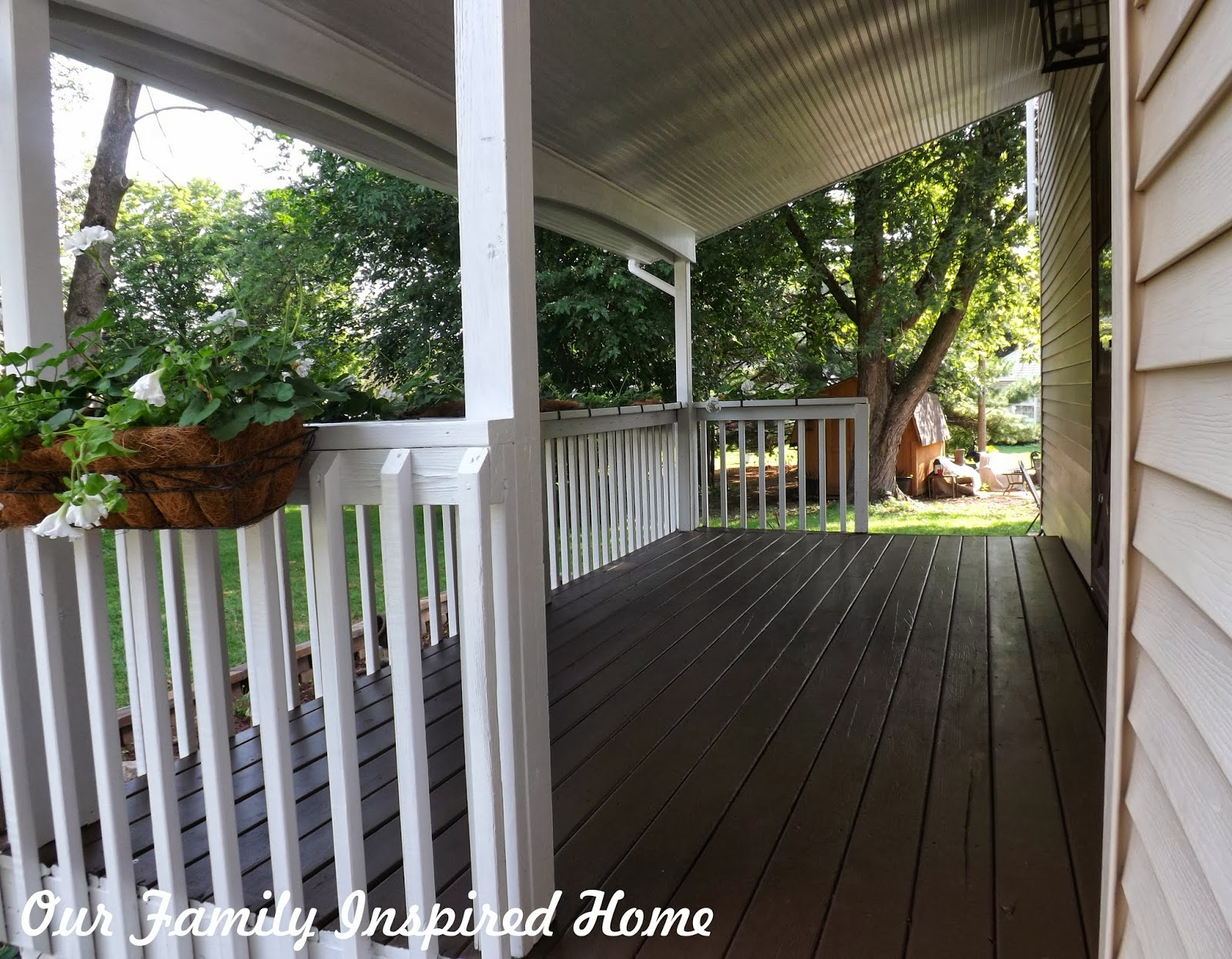 our family inspired home side porch inside reveal