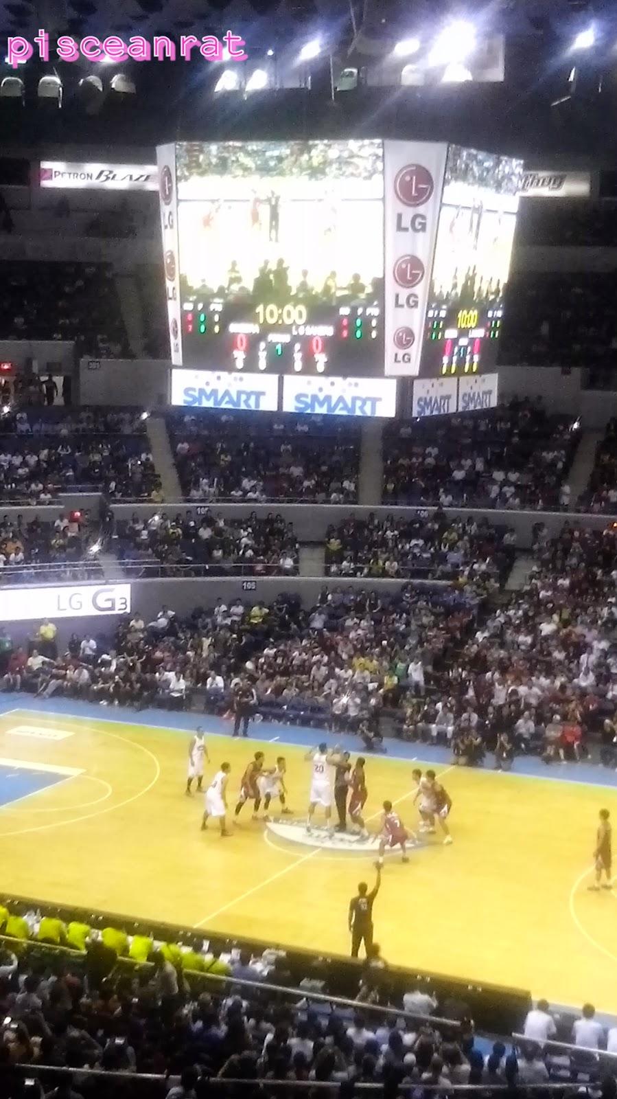 LG basketball araneta