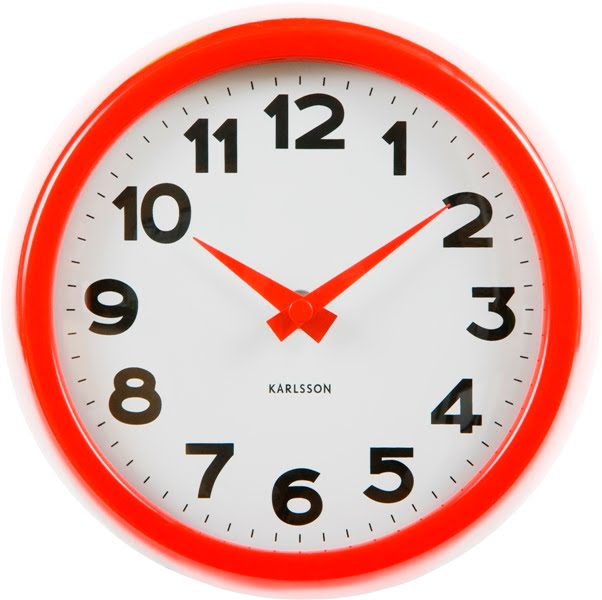 Red clock 49 95 also available in white and black