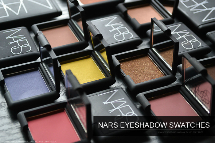 NARS Eyeshadows Singles Swatches - Matte Shimmer Night Series