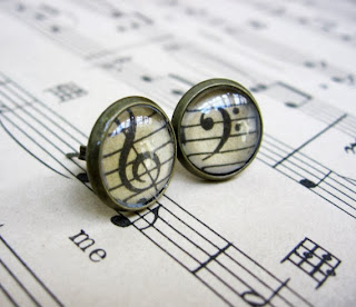 Vintage Sheet Music Earrings