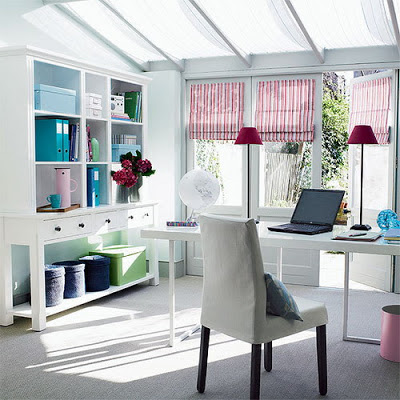 Shabby Chic Interior Home Office Decoration and Furnishing