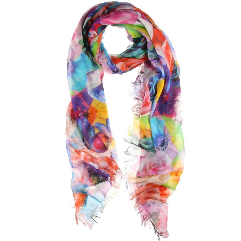 JilSanderFloralPrintScarf