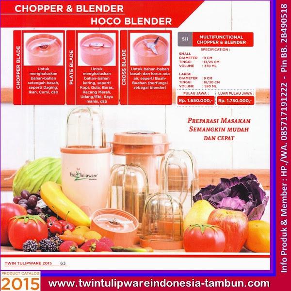 Multifunctional Chopper & Blender, Blender Tulipware 2015