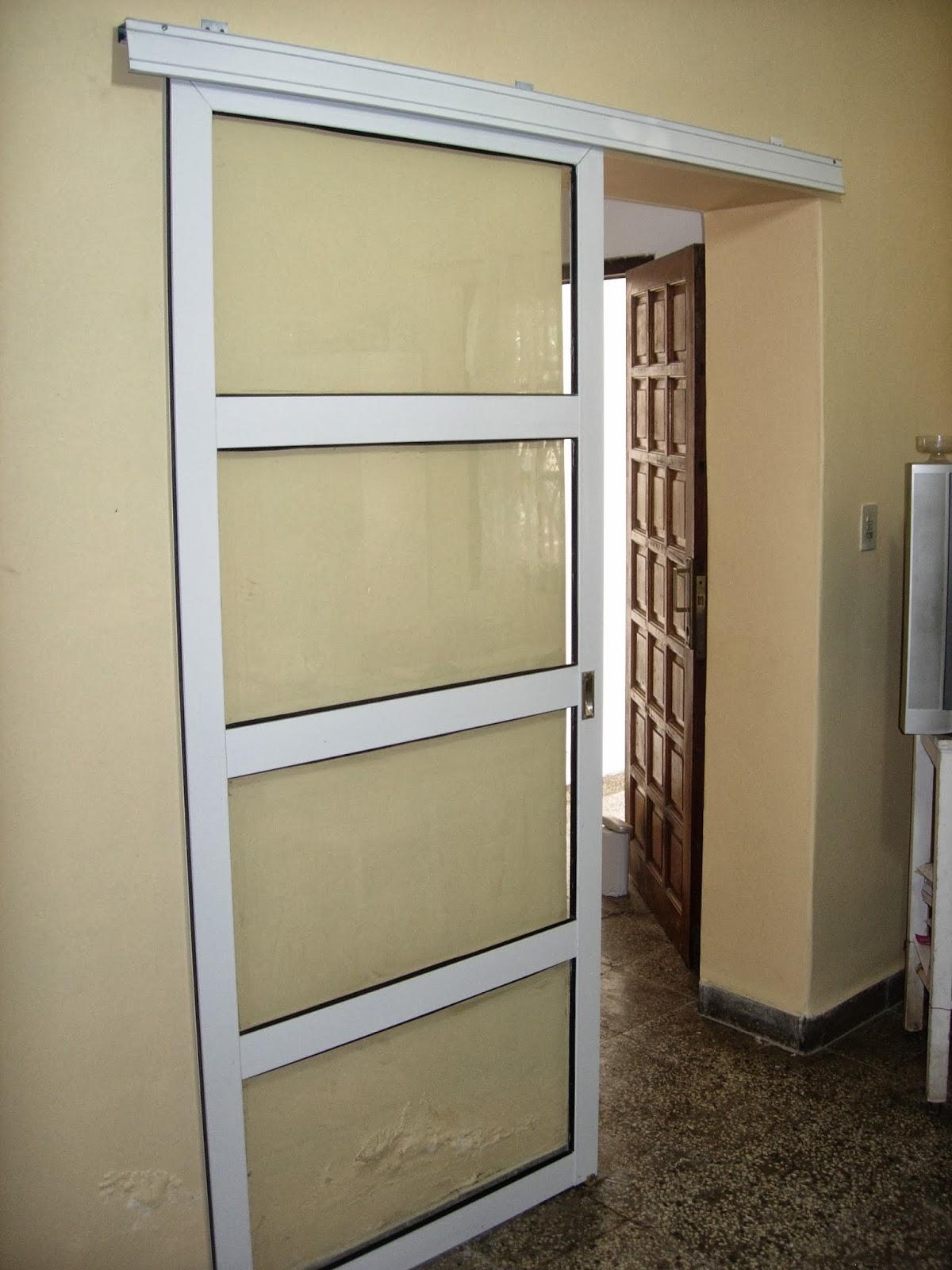 via dise o carpinter a de aluminio puerta colgante