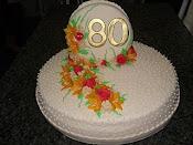 Bolo 80 anos