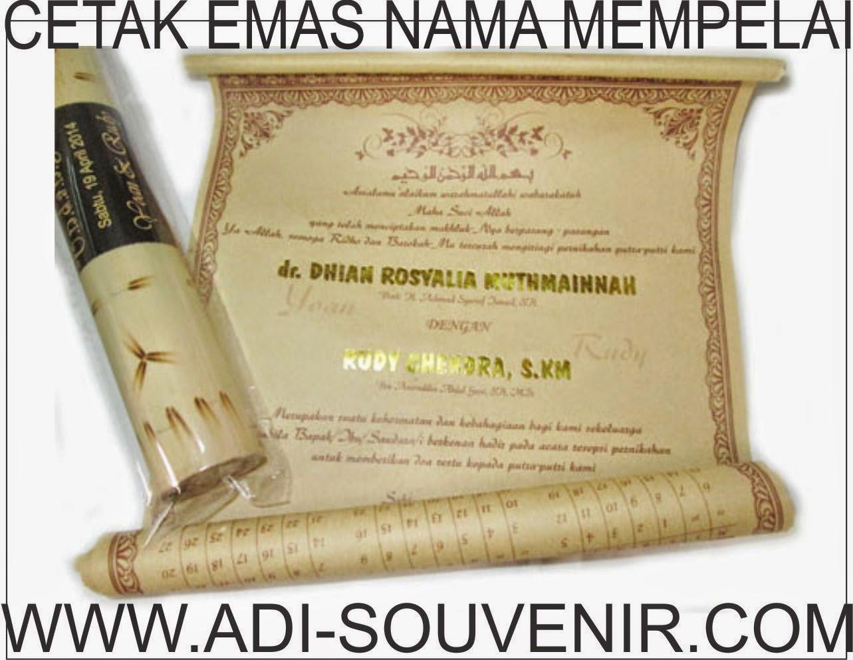 cetak emas undangan bambu adi souvenir