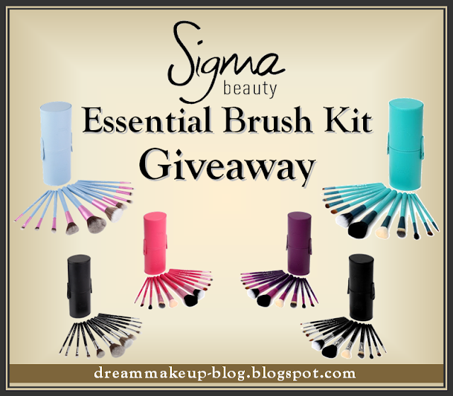  DREAM MAKEUP Sigma Beauty Essential Brush Kit Giveaway!!!
