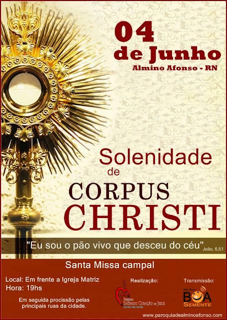 Solenidade de Corpus Christi em Almino Afonso