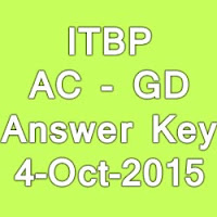 ITBP AC General Duty (GD) Exam Answer Key 2015