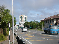 Road leading to Kuala Belait town center