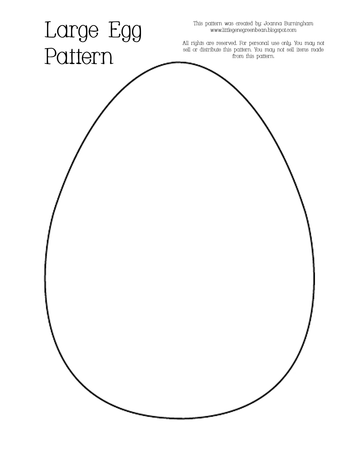Gratifying image with printable easter egg template