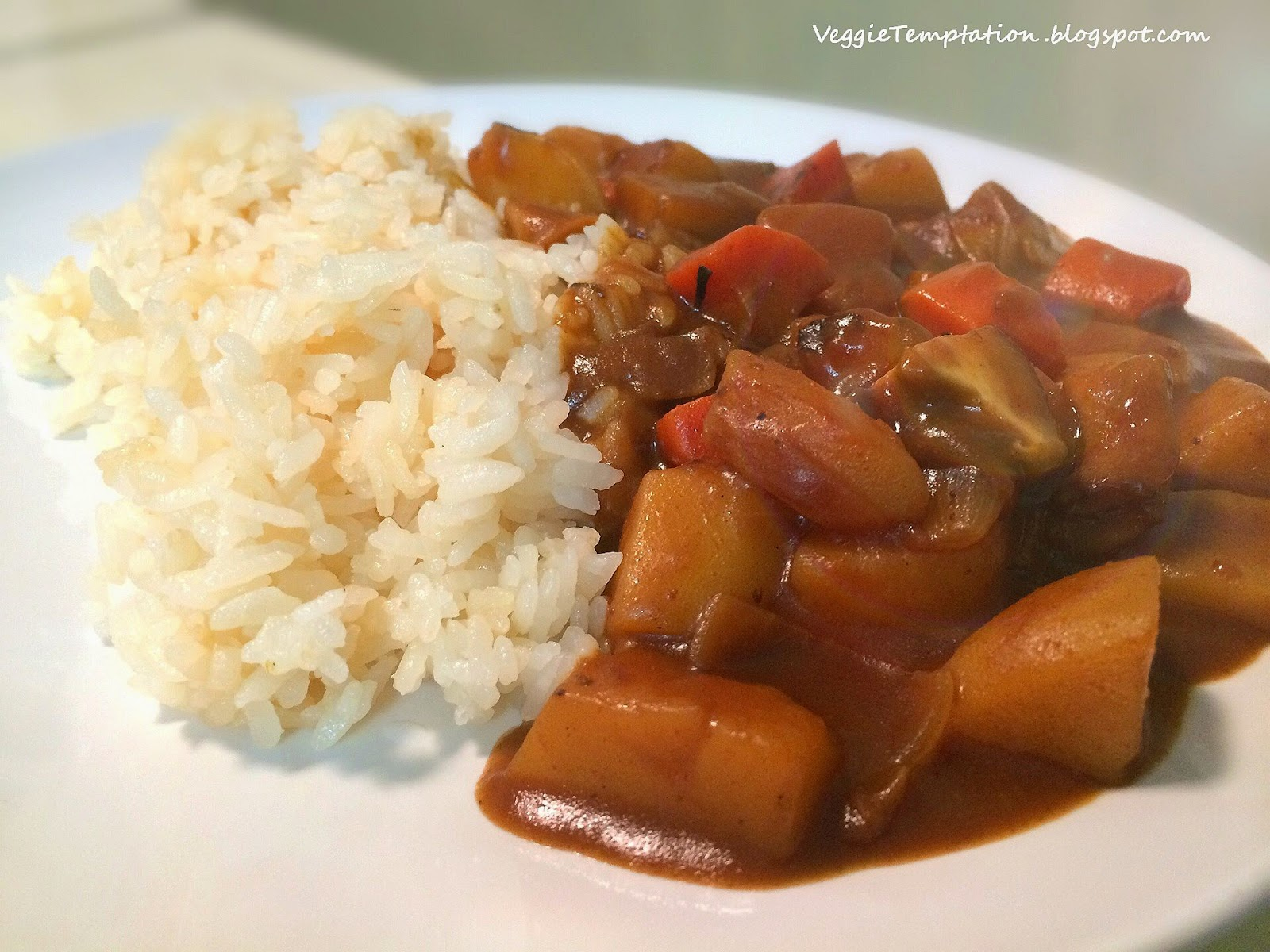 Veggie Temptation: 'Cheater' Japanese Curry Rice