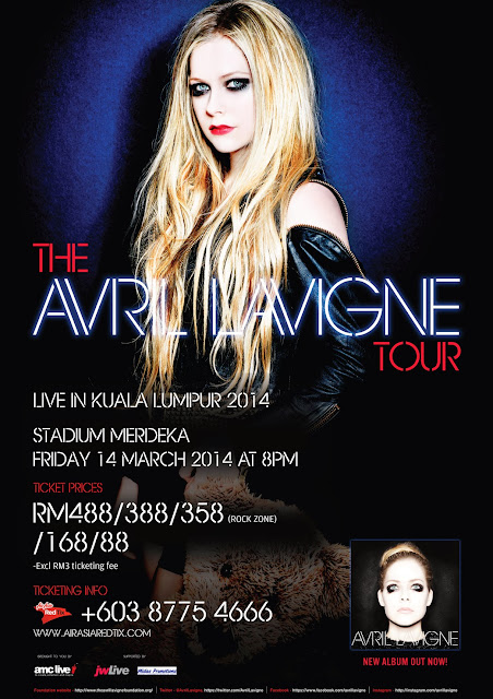 The Avril Lavigne Tour Live in Kuala Lumpur 2014