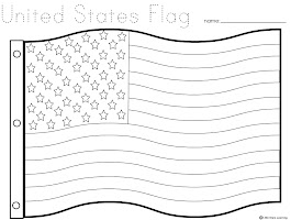 United States American Flag Coloring Page