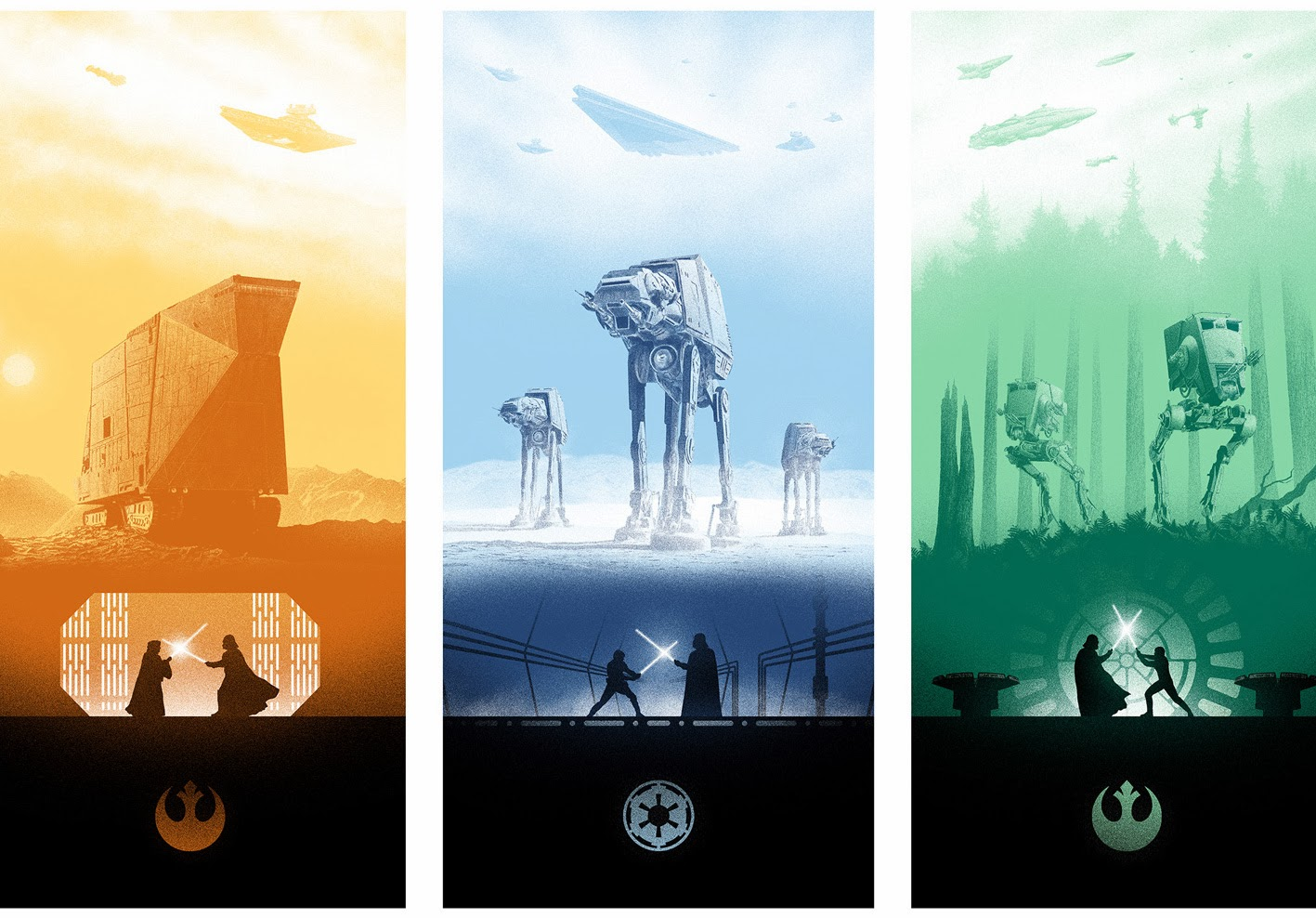Star Wars Triptych by Marko Manev and Bottleneck Gallery