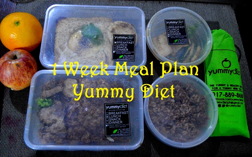 My first Yummy Diet 1 week meal plan