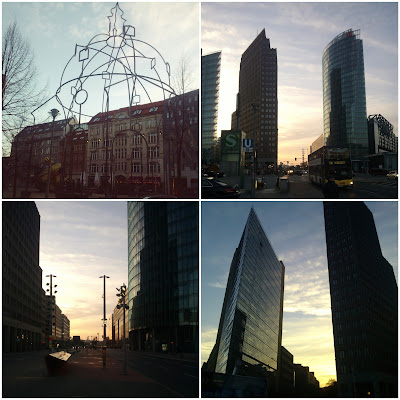 Potsdamer Platz, Berlin, sunset