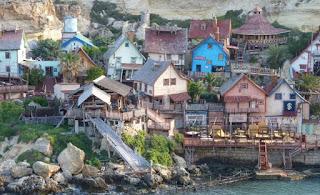 Popeye Village, Anchor Bay, Malta.