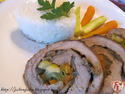 Vegetable Stuffed Roast Beef روزبيف / روست بيف محشي بالخضار