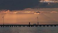 Sunset in Perea near Thessaloniki Greece
