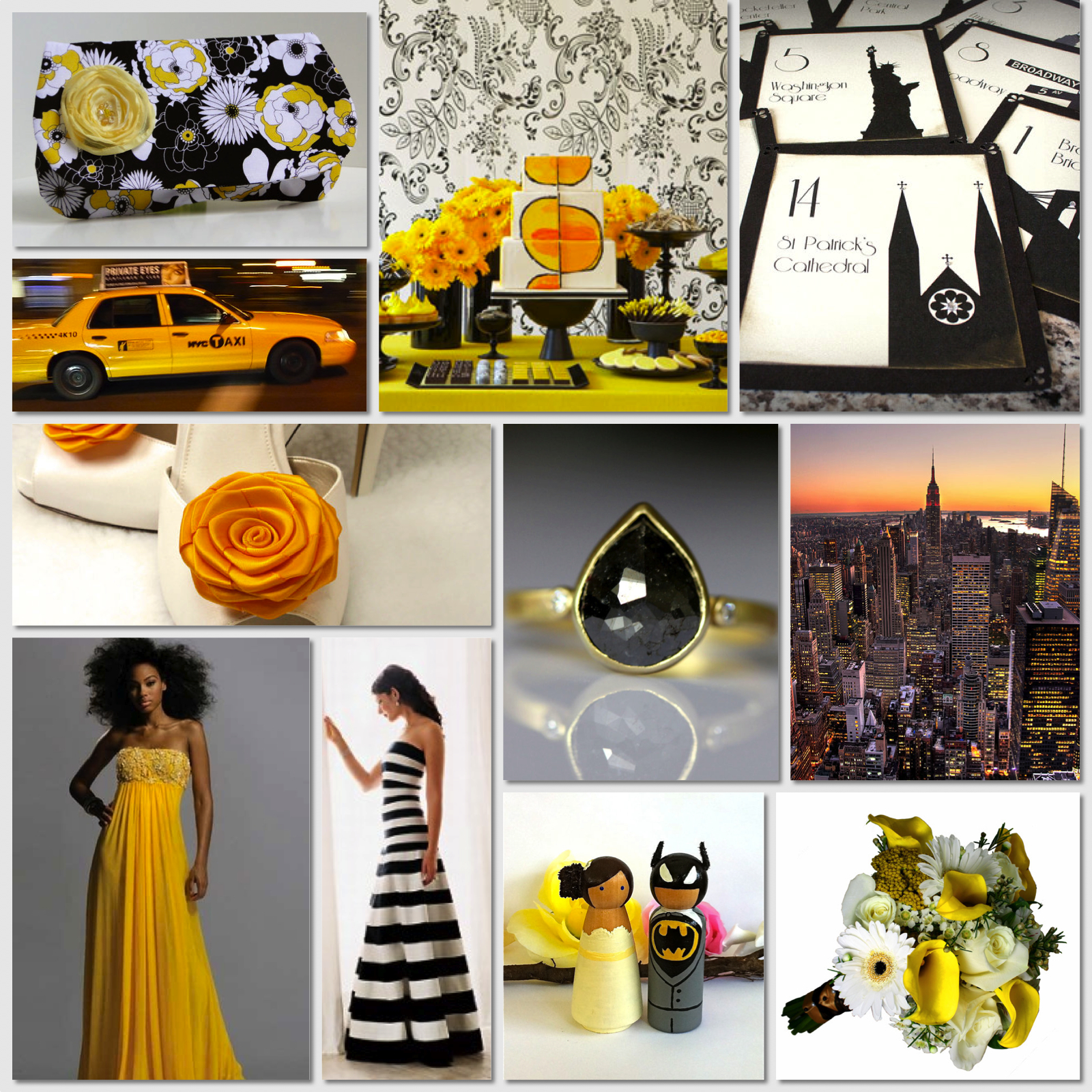 Victoria Mary Vintage Yellow Black and White New York New York
