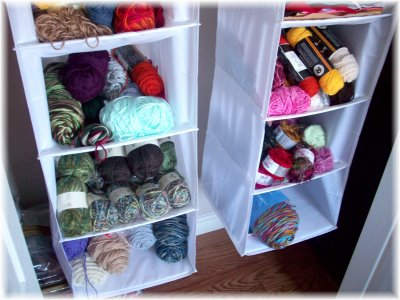Hanging Storage For Yarn From Ktb Designs She Didn T Say What Kind Of Used I M Guessing A Shoe Organizer Would Be Best