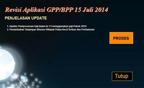 update gpp gaji 13