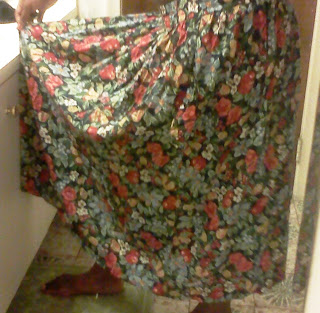 Floral Print Granny Skirt on UpcycleFever