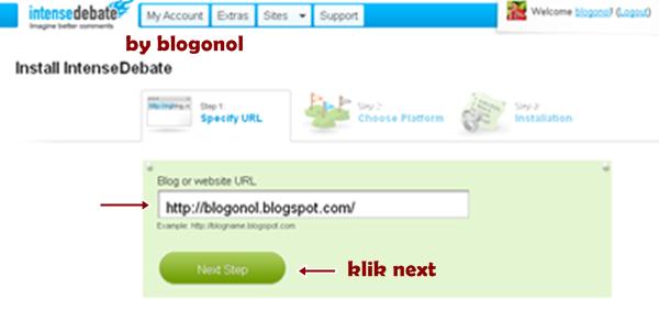 commentluv masukkan alamat blog
