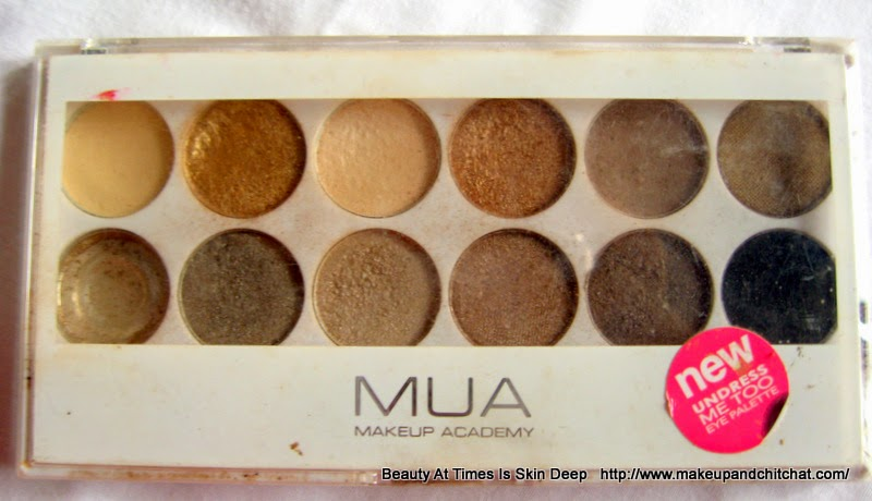 MUA Undress Me Too Palette review India