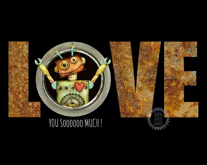 Love Robot Print - Robin Davis Studio