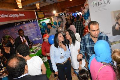 الكابتن جمال عبد الحميد والاعلامي احمد المسلماني في مؤتمر ومعرض المدارس
