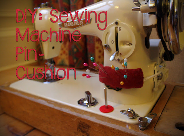 DIY:  Sewing Machine Pin-Cushion Tutorial @owlprintpanda.blogspot.co.uk